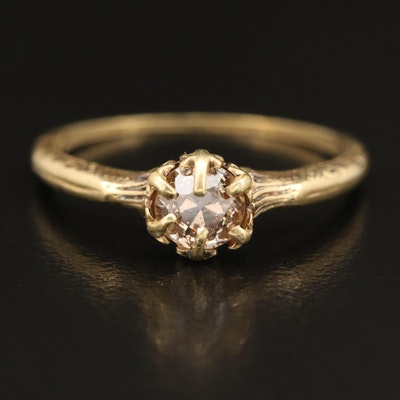 Vintage 14K 0.73 CT Diamond Solitaire Ring