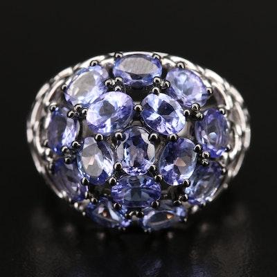 Sterling Silver Tanzanite Dome Ring