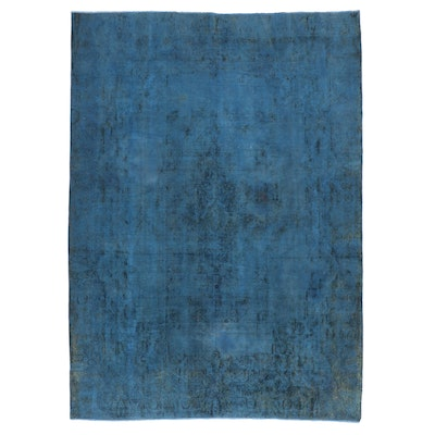 9'7 x 13'8 Hand-Knotted Overdyed Room Sized Rug