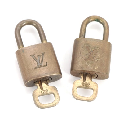 Louis Vuitton Brass Padlocks and Keys