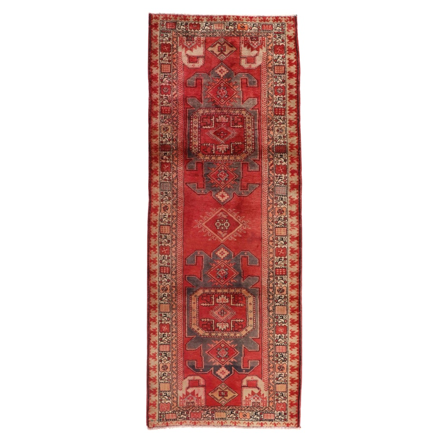 3'9 x 10' Hand-Knotted Persian Sarab Long Rug