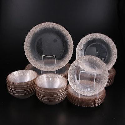 Akcam Turkish Handmade Copper Sparkle on Clear Glass Dinnerware