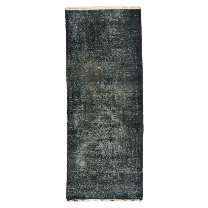 4'3 x 10'10 Hand-Knotted Persian Overdyed Long Rug, 2010s
