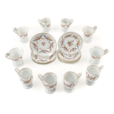 Louis Lövinsohn and P. Donath Dresden Style Porcelain Hot Chocolate Cups