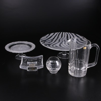 """Marquis by Waterford """"Millenium Celebration"""" Glass Candle Holder with More Glass"""