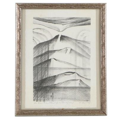 "Kay Muir Lithograph ""Mountain Where Life is Transfigured,"" 1979"