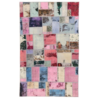 5'11 x 9'6 Handmade Persian Patchwork Area Rug