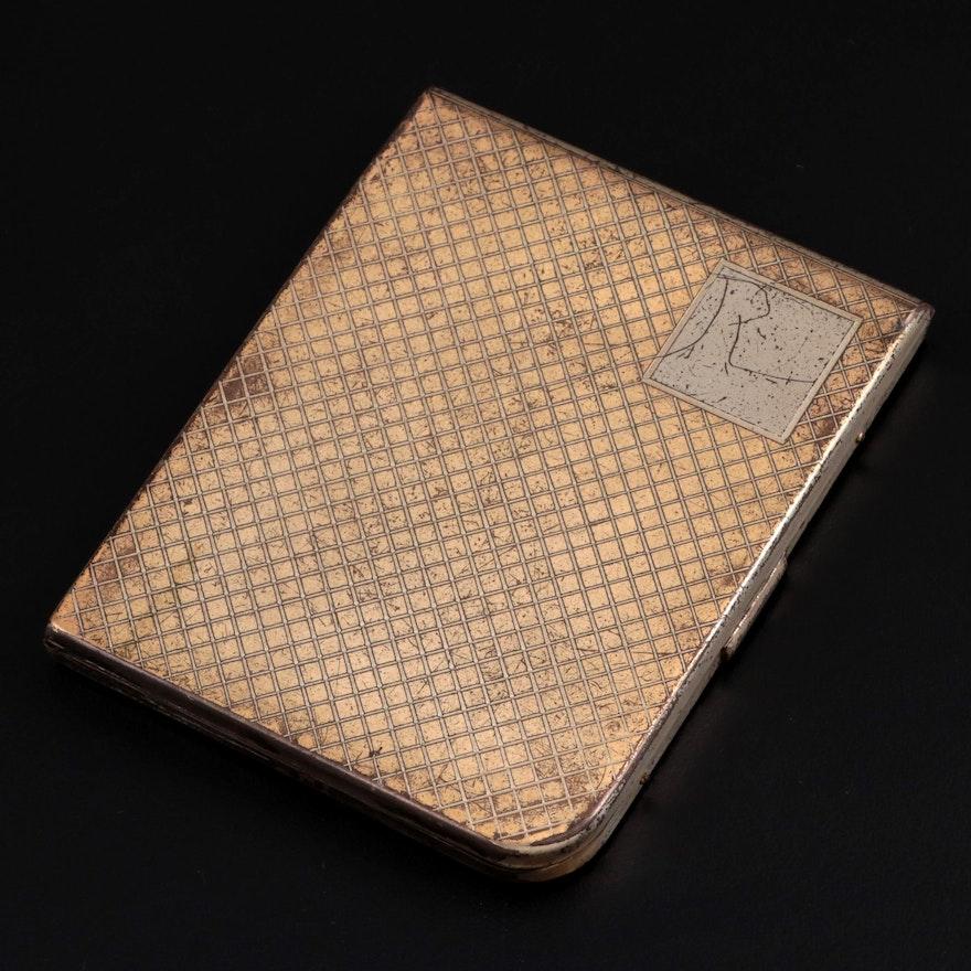 Elgin American Sterling Silver Cigarette Case, Mid-20th Century