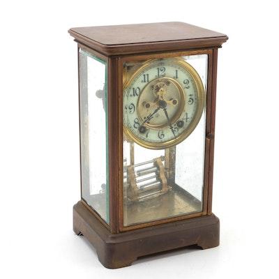 Ansonia Brass Mantel Clock, Early 20th Century