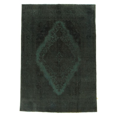 6'7 x 9'8 Hand-Knotted Persian Overdyed Area Rug
