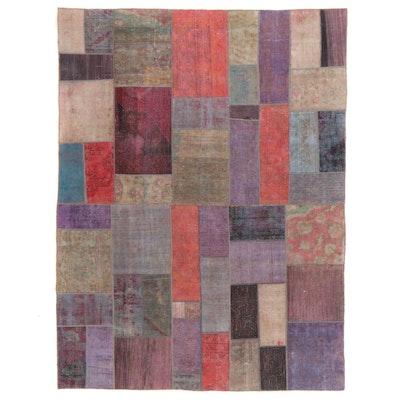 7'8 x 10' Handmade Persian Patchwork Area Rug