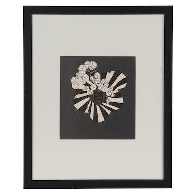 """Alain Le Yaouanc Lithograph for """"Derriére le Miroir,"""" 1971"""