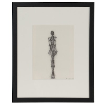 """Collotype after Alberto Giacometti for """"Derrière le Miroir,"""" 1971"""