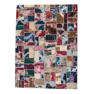 8'10 x 11'11 Handmade Persian Patchwork Room Sized Rug, 2010s