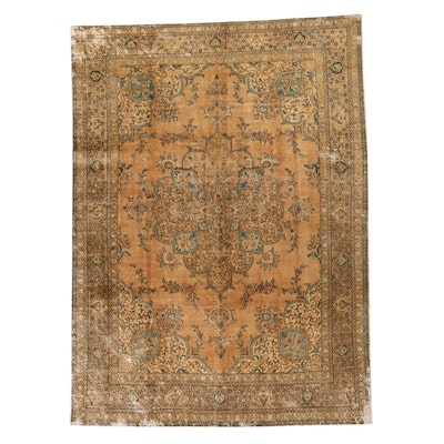 9'5 x 12'10 Hand-Knotted Persian Tabriz Overdyed Room Sized Rug