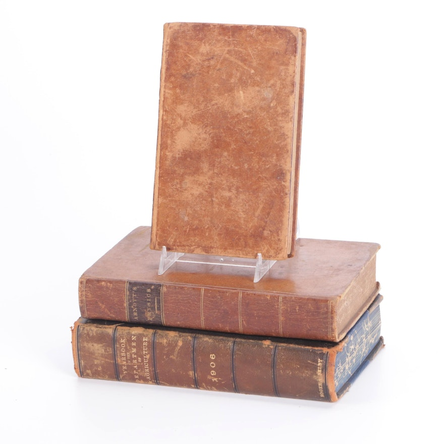 """""""Elements of Physics"""" and More Nonfiction Books, Early 19th/Early 20th Century"""