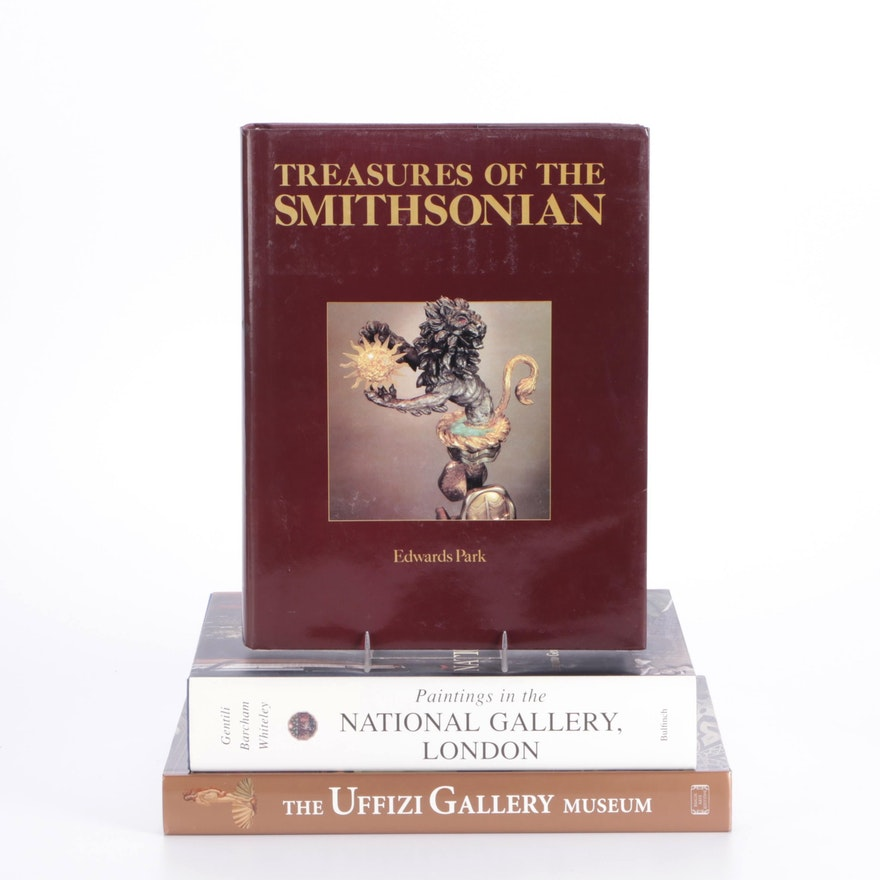 Art Reference Books on the Uffizi, the Smithsonian, and London National Gallery