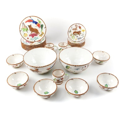 "Lynn Chase ""Jungle Jubilee"" Hand-Painted Ceramic Tableware"
