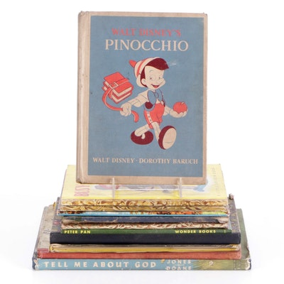 """Children's Books Including """"Lassie"""" and """"Pinocchio,"""" Early to Mid-20th Century"""
