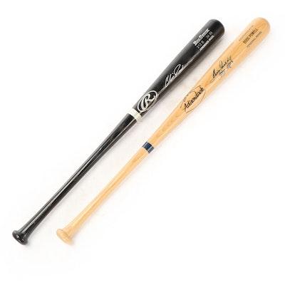 Boog Powell Adirondack and Chris Davis Rawlings Signed Baseball Bats, COAs