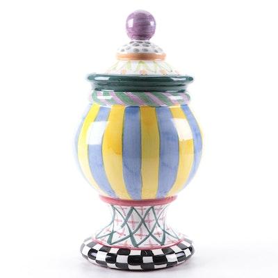 MacKenzie-Childs Hand-Painted Ceramic Globe Canister
