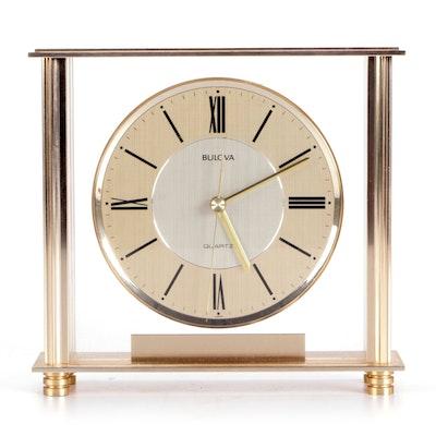 "Bulova Quartz B1700 ""Grand Prix"" Mantle Clock"