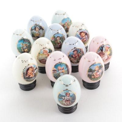"Goebel for The Danbury Mint ""The M.I. Hummel Porcelain Egg Collection"""