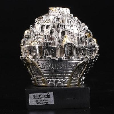 H. Karshi Jerusalem Electroform Sterling Silver Figurine