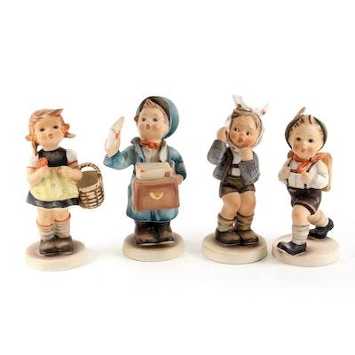 "Goebel ""School Boy"" and Other Porcelain Hummel Figurines"
