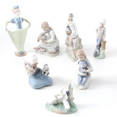 """Nao by Lladró """"Little Friskies,"""" """"Clowning Ready,"""" and More Porcelain Figurines"""