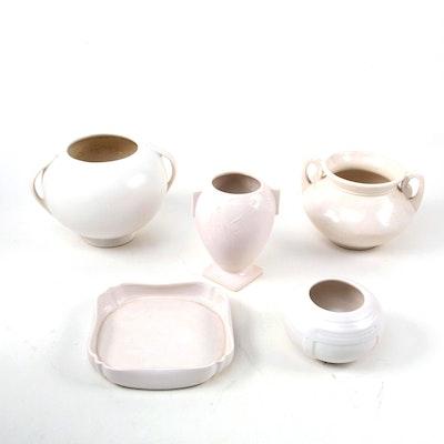 "Roseville Pottery ""Orian"" Ceramic Rose Bowl and Other Roseville Pottery"