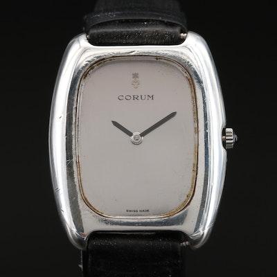 Vintage Corum Sterling Silver Stem Wind Wristwatch