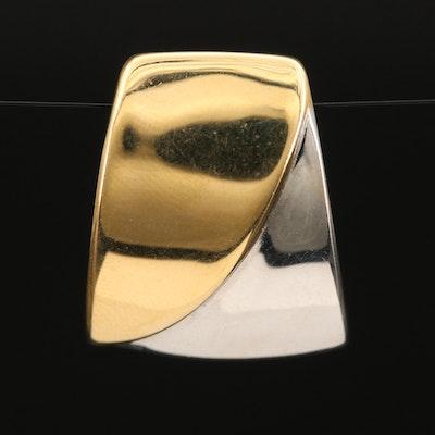 14K Two-Tone Gold Slide Pendant
