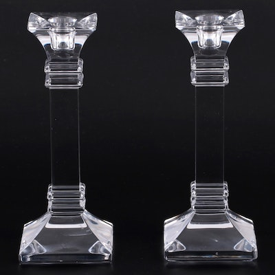 """Marquis by Waterford """"Treviso"""" Crystal Candlesticks"""