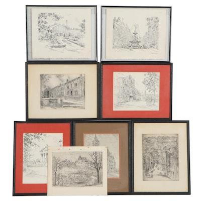 Lithographs of Landmarks after Caroline Williams