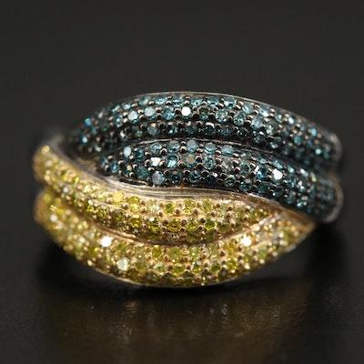 Sterling 1.45 CTW Diamond Ring