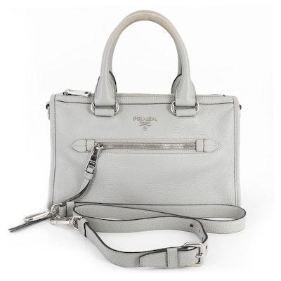 Prada Two-Way Bauletto Bag in Nube Vitello Phenix Leather