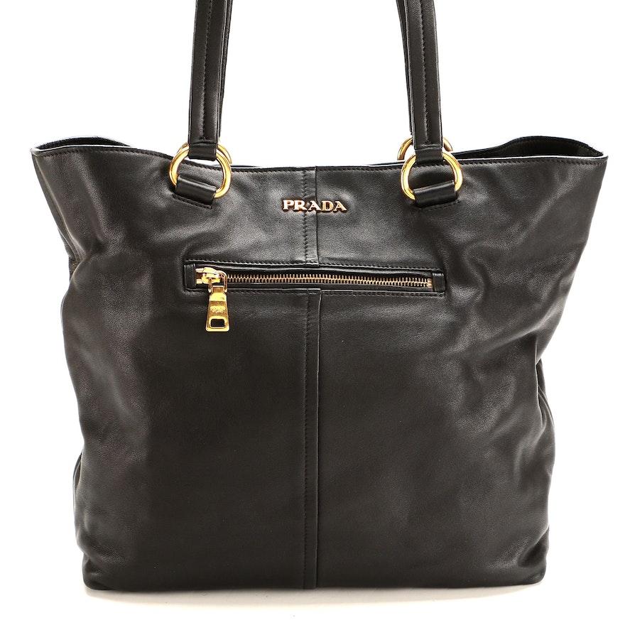 Prada Shoulder Bag in Black Leather