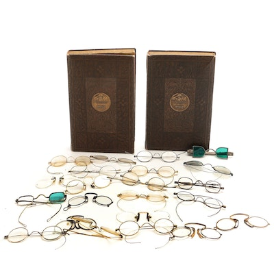 Art Nouveau Bausch & Lomb Book Style Optometry Display Cases