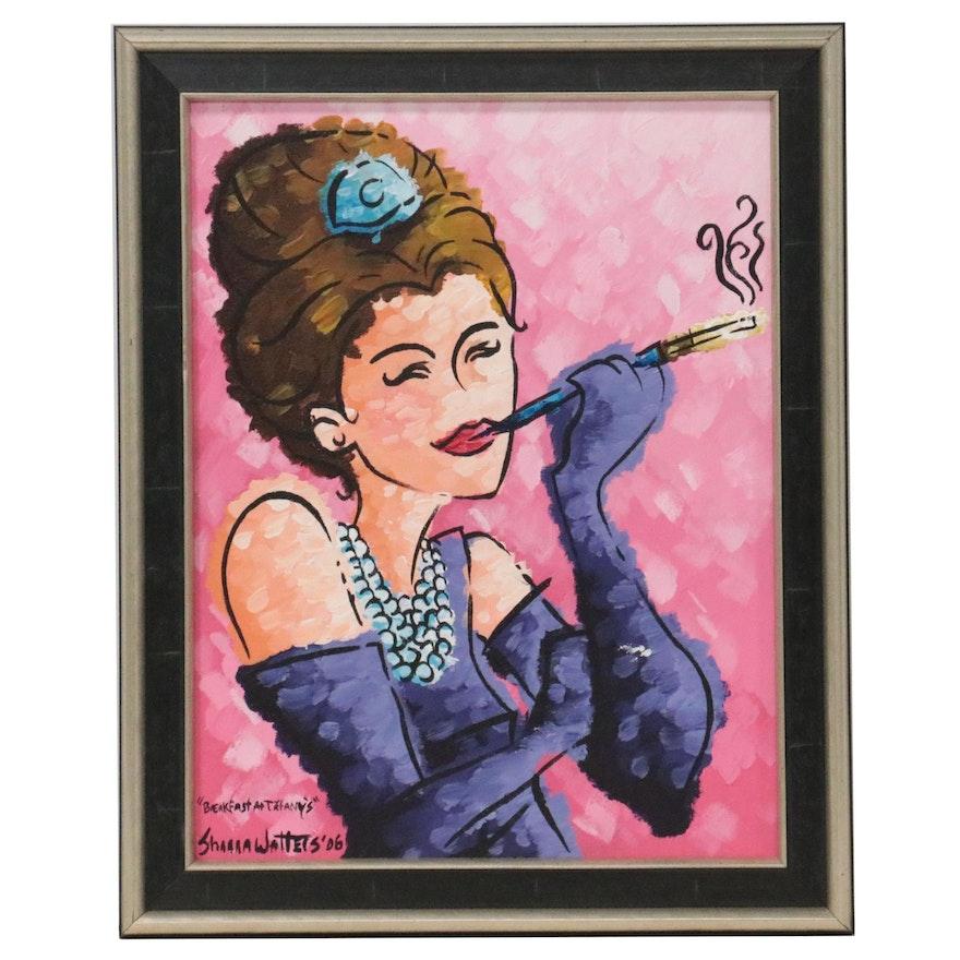 """Acrylic Painting """"Breakfast at Tiffany's,"""" 2006"""