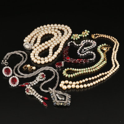 Vintage Necklaces and Earrings with Napier and B. David