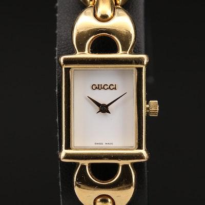Vintage Gucci 1800L Gold Tone Quartz Wristwatch