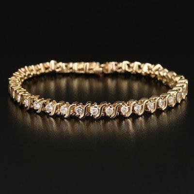 14K 2.99 CTW Diamond S-Link Bracelet