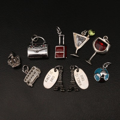 Vintage Kings Island Sterling Eiffel Tower Charms Featured in Charm Selection