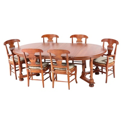 Harden French Provincial Style Cherry Seven-Piece Dining Set