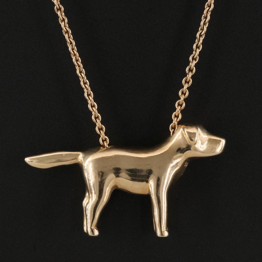 14K Dog Necklace