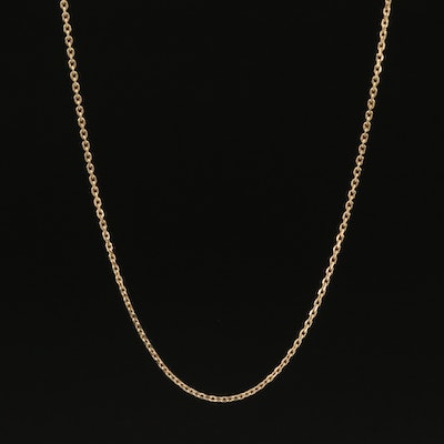 14K Cable Necklace
