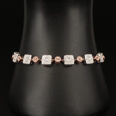 800 Silver Diamond Bracelet