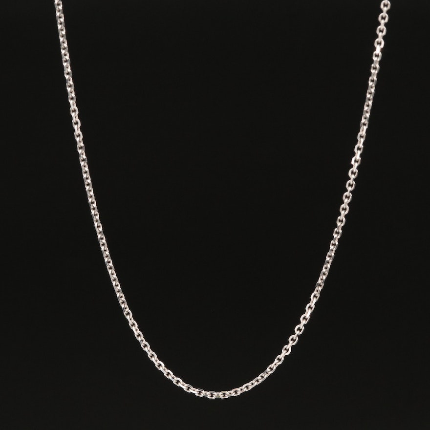 14K Italian Cable Chain Link Necklace