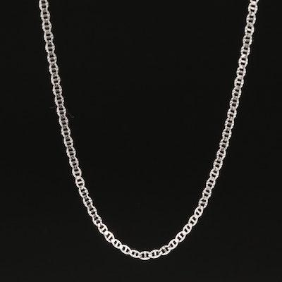 14K Diamond Cut Mariner Chain Necklace
